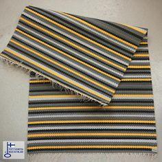 Keltainen Kehrääjä-raitamatto Woven Rug, Rugs On Carpet, Beach Mat, Outdoor Blanket, Weaving, Rag Rugs, Flooring, Board, Home Decor
