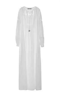 Optical White Gypsy Blouse Dress - Veronique Branquinho Resort 2016 - Preorder now on Moda Operandi
