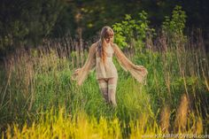 sensual, nature, photo, girl, back, flowers, meadow, outdoor, photography, photo mori girl, lingerie, long hair, lace, romantic by T.Krampikowski