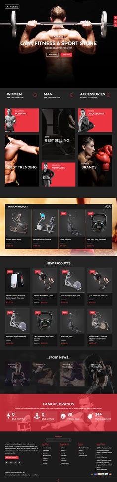 Athlete is Premium full Responsive Magento eCommerce Theme. Retina Ready…