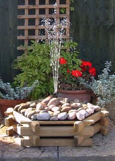 Secure online purchasing of your Pebble Pool Water Features: Free UK Delivery on indoor & outdoor pebble pool water features and fountains. Indoor Wall Fountains, Landscaping With Fountains, Tabletop Water Fountain, Diy Fountain, Garden Fountains, Landscaping Tips, Water Fountains, Landscape Fountains, Outdoor Water Features