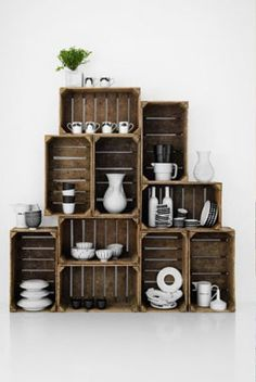 Great idea for office shelving, toys, or man cave. Ceramic Artists, Floating Shelves, Floating Bookshelves