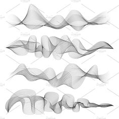 Find Abstract Sound Waves Isolated On White stock images in HD and millions of other royalty-free stock photos, illustrations and vectors in the Shutterstock collection. Thousands of new, high-quality pictures added every day. Parametrisches Design, Wave Design, Sound Design, Wave Drawing, Wave Illustration, Sound Art, Sound Music, Abstract Waves, Wave Art