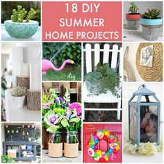 18 DIY Summer Home Projects! -- Tatertots and Jello