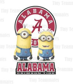 Despicable Me Inspired Alabama Crimson Tide - DIGITAL FILE - Any Team Available Upon Request on Etsy, $5.00