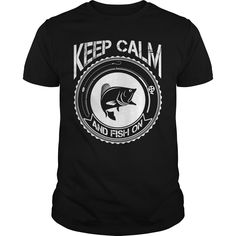 Get yours beautiful Keep Calm And Fish On Fishing Gift Shirts & Hoodies.  #gift, #idea, #photo, #image, #hoodie, #shirt, #christmas