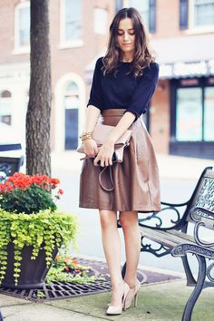 Leather Full Skirt