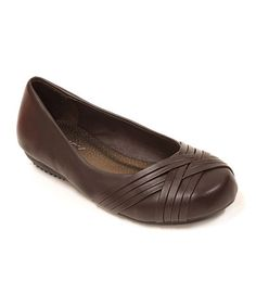 Look at this #zulilyfind! Brown Braided Flat by Spicy Footwear #zulilyfinds