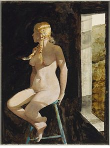 The Helga Pictures are a series of more than 240 paintings and drawings of German model Helga Testorf (born c. 1933[1][2] or c. 1939[3][4]) created by Andrew Wyeth (1917–2009) between 1971 and 1985.