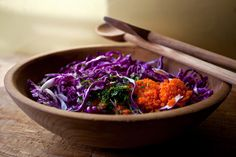 NYT Cooking: Shredded Red Cabbage and Carrot Salad