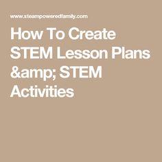 Stem Lesson Plan Template Google Search Classroom Ideas - Stem lesson plan template
