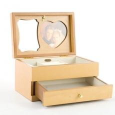 Mele & Co 'Shelley' Champagne Rose Collection Medium Jewellery Box with Photo Frame