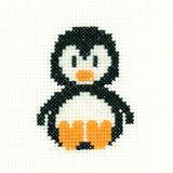 Penguin - Mini Cross Stitch Kit - Beginners