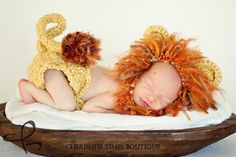 Great Lion Hat and Diaper cover set - crochet
