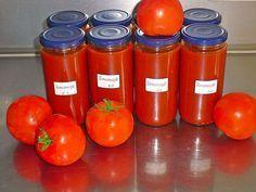 Tomatensoße auf Vorrat, ein sehr leckeres Rezept aus der Kategorie Italien. Bewertungen: 136. Durchschnitt: Ø 4,7.