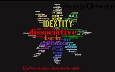 DID word cloud - created from http://www.dissociative-identity-disorder.net/wiki/DID to describe visually what DID is all about.