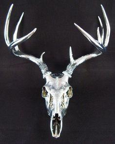 Image result for deer skull flowers