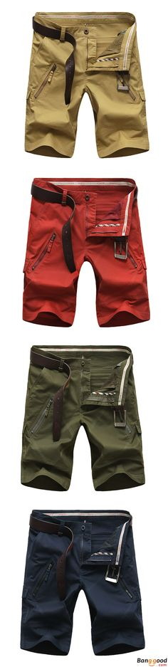 US$35.99 + Free Shipping. AFSJEEP Mens Pants, Mens Shorts, Military Shorts, Outdoor Pants, Summer Casual Trousers, Elastic Waistband Cargo Shorts. Color: Army Green, Navy Blue, Khaki, Brick Red. Perfect for Hiking or a Zombie Apocalypse.