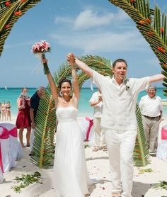 A destination beach wedding in Punta Cana