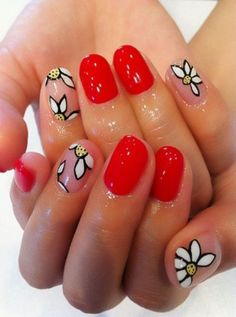 17 Fresh and Fashionable Red Nail Designs: #10. Beautiful Red Nail Design