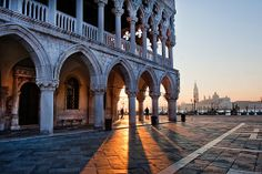 Sunrise in Piazza San Marco, Venice, Italy  #sunrise #venice.....I was there at sunset
