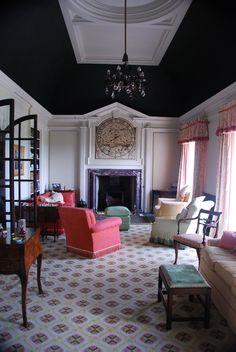 Whalton Manor Drawing Room by John Fowler