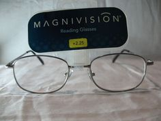 Magnivision Sophisticate Silver Reading Glasses Spring Hinges +1.75 2.25 2.75 #Magnivision