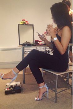 Love the blue heels!!