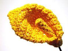 CROCHET PATTERNS (Pattern #44 Yellow Calla Lily) -Crochet & Knit Design Heaven