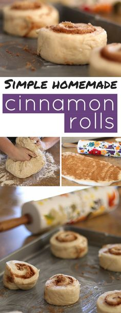 These simple homemade cinnamon rolls are great for family breakfast.