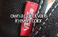 Own a pair of vans in every color