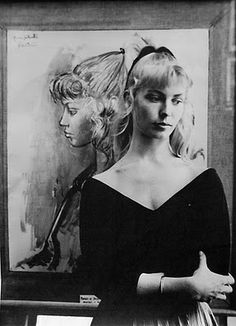 Lydia Sylvette Corbett (Sylvette David) was 19 when Picasso spotted her smoking and sipping coffee at a local café,Three days later he presented her with a sketch of herself that he'd drawn from memory featuring her high ponytail.