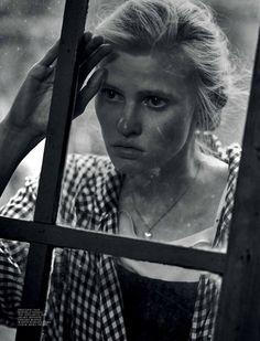 Lara Stone for Interview Magazine by Peter Lindbergh