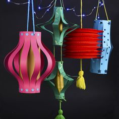 Make your own paper lanterns - DIY paper decor - Chinese new year or just for the backyard!