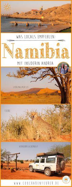 Auf Reisen erkundige ich mich oft bei Locals über ihr Land. Das hilft mir in keine Fettnäpfchen zu treten, sicher zu reisen und die schönsten Plätze zu entdecken. Glücklicherweise habe ich liebe Freunde die aus Namibia stammen und mir auch vorab schon verraten haben, worauf es in ihrer Heimat ankommt! Andrea kenne ich aus meiner Zeit in Südafrika. Sie ist noch oft im Nachbarland um ihre Familie zu besuchen und kennt sich daher bestens aus! Das hat sie mir verraten