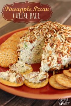 This easy Pineapple Pecan Cheese Ball recipe makes a great appetizer for any gathering! It is a great fall dish that is packed with flavor.   Find all our yummy pins at https://www.pinterest.com/favfamilyrecipz/