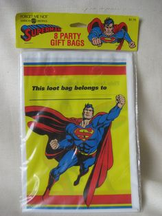 Vintage Superman Loot Bags by VintageByThePound on Etsy