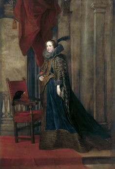 Renaissance chaire a bras    Antoon Van Dyck - Ritratto di Paolina Adorno-Brignole  (Genova)
