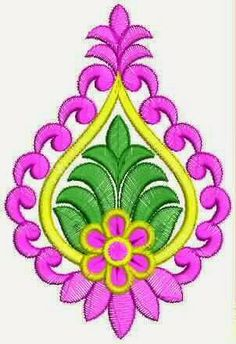 Enchanting Patch work Border Embroidery Designs, Hand Embroidery Patterns, Applique Designs, Embroidery Applique, Machine Embroidery Designs, Hand Embroidery Tutorial, Free Motion Embroidery, Embroidery Works, Simple Rangoli Designs Images