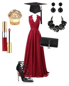 """""""Grad 2016"""" by emiliamm on Polyvore featuring moda, R&J, Dolce&Gabbana, Yves Saint Laurent, Givenchy e House of Sillage"""
