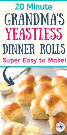 These restaurant-style quick and easy dinner rolls are the perfect side dish for pasta, chilli or any other family meal for that matter! Quick and super easy to Easy Homemade Rolls, Easy Yeast Rolls, Homemade Dinner Rolls, Bread Rolls, Easy Recipe For Rolls, Recipe For Dinner Rolls, Pan Rolls Recipe, Easy Rolls, Homemade Breads