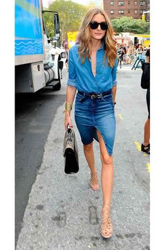 #OliviaPalermo attends the #RebeccaMinkoff spring/summer 2015 show for New York Fashion Week, September 2014 | Celebs Love Wearing Double #Denim - DesignerzCentral