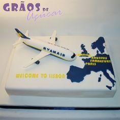 Avião - Ryanair - Grãos de Açúcar - Bolos decorados - Cake Design