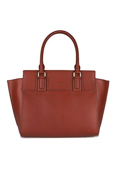 Charles and Keith large trapeze tote