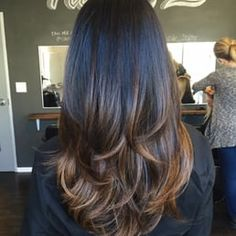 Photo of Audra Tong At Salon Republic - Los Angeles, CA, United States. Ombré and Layered haircut