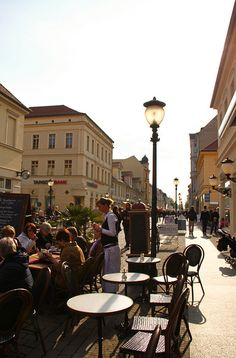 Potsdam is full of cafes and places to eat. Some can be quite pricey, but a number offer traditional foods and a good atmosphere. #Germany  Brandenburger Straße