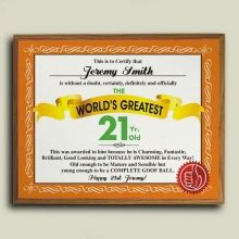 Worlds Greatest Birthday Personalized Plaque 21st Birthday, Birthday Gifts, Personalized Plaques, World, Birthday Presents, Birthday Favors, The World