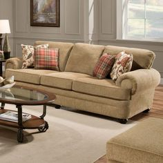 Simmons Upholstery Thunder Sofa - Topaz - Sofas & Loveseats at Hayneedle