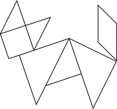 Tangrams, invented by the Chinese, are used to develop geometric thinking and spatial sense. This tangram depicts a standing fox. Fox Pattern, Pattern Blocks, Preschool Worksheets, Preschool Activities, Tangram Printable, Tangram Puzzles, Illusion Drawings, Instructional Technology, Math Art