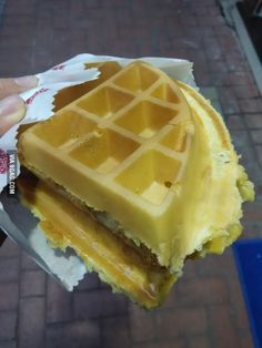 Just Hong Kong Street Food... Waffles with peanut butter, sugar, butter and condensed milk. $19HKD ($2.5USD)
